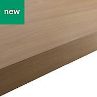38mm Kala Matt Oak effect Laminate Square edge Kitchen Breakfast bar Worktop, (L)2000mm