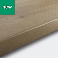 38mm Kabsa Matt Rustic Wood effect Laminate Post-formed Kitchen Breakfast bar Worktop, (L)2000mm