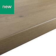 38mm Kabsa Matt Rustic Wood effect Laminate Round edge Kitchen Breakfast bar Worktop, (L)2000mm