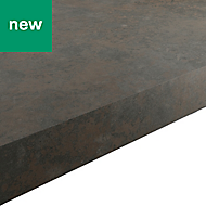 GoodHome 38mm Kala Matt Carnival Stone effect Laminate Square edge Kitchen Breakfast bar Worktop, (L)2000mm