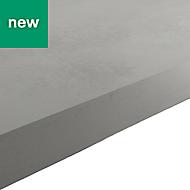 38mm Kala Matt Grey Concrete effect Laminate Square edge Kitchen Breakfast bar Worktop, (L)2000mm