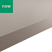 38mm Kala Matt Quartz effect Laminate Square edge Kitchen Breakfast bar Worktop, (L)2000mm