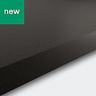 38mm Berberis Super matt Zinc Anthracite Laminate & particle board Square edge Kitchen Worktop, (L)3000mm