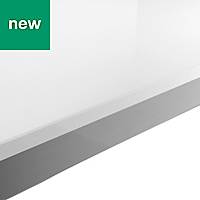 38mm Berberis Gloss White Laminate Square edge Kitchen Breakfast bar Worktop, (L)2000mm