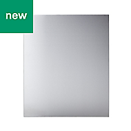 GoodHome Kasei Brushed effect Stainless steel Splashback, (H)800mm (W)1100mm (T)10mm