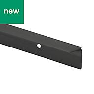 GoodHome Nantua Matt Black Aluminium alloy Worktop joint