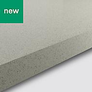 38mm Berberis Gloss White Glitter effect Laminate & particle board Square edge Kitchen Worktop, (L)3000mm