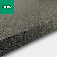 38mm Berberis Gloss Grey Glitter effect Laminate & particle board Square edge Kitchen Worktop, (L)3000mm
