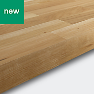 40mm GoodHome Hinita Natural Matt Solid timber Worktop (L)3m (D)620mm