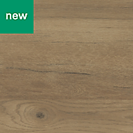 GoodHome Kabsa Matt Wood effect Rustic Worktop edging tape, (L)3m