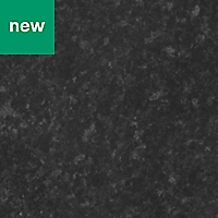GoodHome Kabsa Gloss Granite effect Black Worktop edging tape, (L)3m
