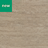 GoodHome Kabsa Matt Stone effect Travertine Worktop edging tape, (L)3m