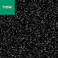 GoodHome Berberis Gloss Sparkle effect Black Worktop edging tape, (L)3m
