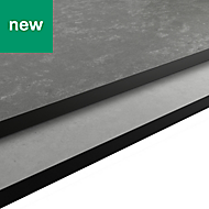 12mm Nepeta Matt Grey Resin Square edge Kitchen Worktop, (L)3000mm