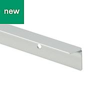 GoodHome Nantua Brushed Aluminium alloy Worktop joint