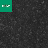 0.5mm Kabsa Gloss Black Granite effect Laminate Post-formed Kitchen Worktop, (L)160mm