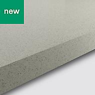 38mm Berberis Gloss White Glitter effect Laminate & particle board Square edge Kitchen Breakfast bar Worktop, (L)2000mm