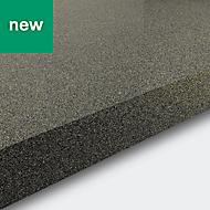 38mm Berberis Gloss Grey Glitter effect Laminate & particle board Square edge Kitchen Breakfast bar Worktop, (L)2000mm