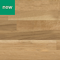 40mm Hinita Matt Natural Solid timber Square edge Kitchen Breakfast bar Worktop, (L)2000mm