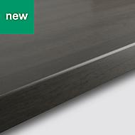 38mm Kabsa Matt Grey Oak effect Laminate Post-formed Kitchen Worktop, (L)3000mm