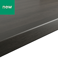GoodHome Kabsa Matt Grey Oak effect Laminate Worktop (L)2000mm