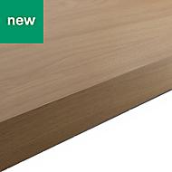 38mm Kala Matt Oak effect Laminate Square edge Kitchen Worktop, (L)3000mm
