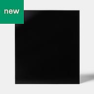 GoodHome Nashi Black Glass effect Tempered glass Splashback, (H)600mm (W)800mm (T)5mm