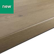 38mm Kabsa Matt Rustic Wood effect Laminate Round edge Kitchen Worktop, (L)3000mm