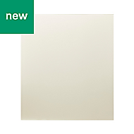 GoodHome Nashi Ivory Glass effect Tempered glass Splashback, (H)800mm (W)600mm (T)5mm