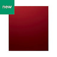 GoodHome Nashi Red Glass effect Tempered glass Splashback, (H)800mm (W)600mm (T)5mm