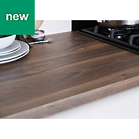 38mm Kala Matt Wood effect Laminate Square edge Kitchen Worktop, (L)3000mm