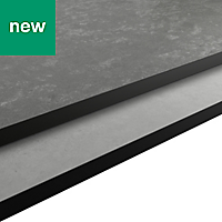 12mm Nepeta Matt Grey Resin Square edge Kitchen Worktop, (L)2000mm