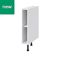 GoodHome Caraway White Base cabinet, (W)150mm