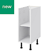 GoodHome Caraway White Base cabinet, (W)300mm