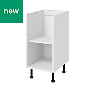 GoodHome Caraway White Base cabinet, (W)400mm