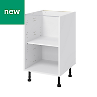 GoodHome Caraway White Base cabinet, (W)500mm