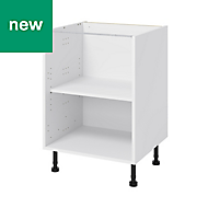 GoodHome Caraway White Base cabinet, (W)600mm