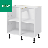 GoodHome Caraway White Base cabinet, (W)800mm