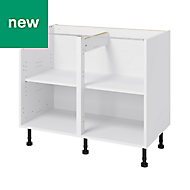 GoodHome Caraway White Base cabinet, (W)1000mm