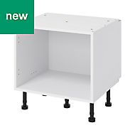 GoodHome Caraway White Belfast Base cabinet, (W)600mm