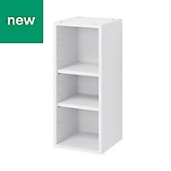 GoodHome Caraway Matt White Standard Wall cabinet, (W)300mm