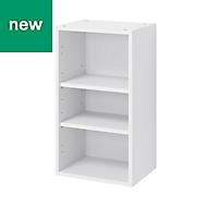 GoodHome Caraway Matt White Standard Wall cabinet, (W)400mm