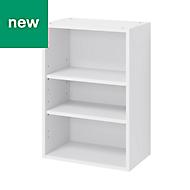 GoodHome Caraway Matt White Standard Wall cabinet, (W)500mm
