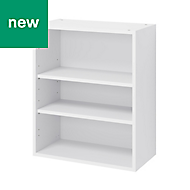 GoodHome Caraway Matt White Standard Wall cabinet, (W)600mm