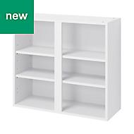 GoodHome Caraway Matt White Standard Wall cabinet, (W)800mm