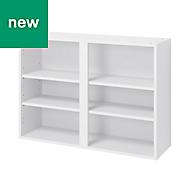 GoodHome Caraway Matt White Standard Wall cabinet, (W)1000mm