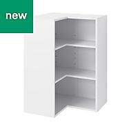 GoodHome Caraway Matt White Tall Wall cabinet, (W)630mm
