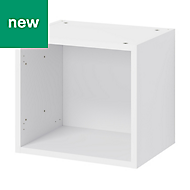 GoodHome Caraway Matt White Bridging Wall cabinet, (W)400mm