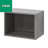 GoodHome Caraway Oak effect Grey Bridging Wall cabinet, (W)500mm