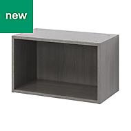 GoodHome Caraway Oak effect Grey Bridging Wall cabinet, (W)600mm